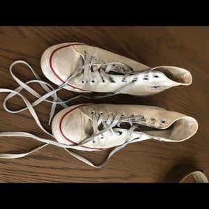Converse white high tops sz 9.5 W 7.5 M